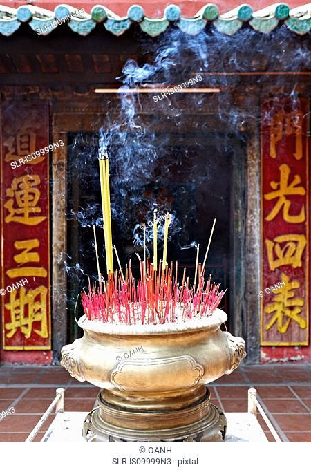 Insense sticks in Chua Ngoc Hoang, Ngoc Hoang Pagoda, Ho Chi Minh City , Vietnam