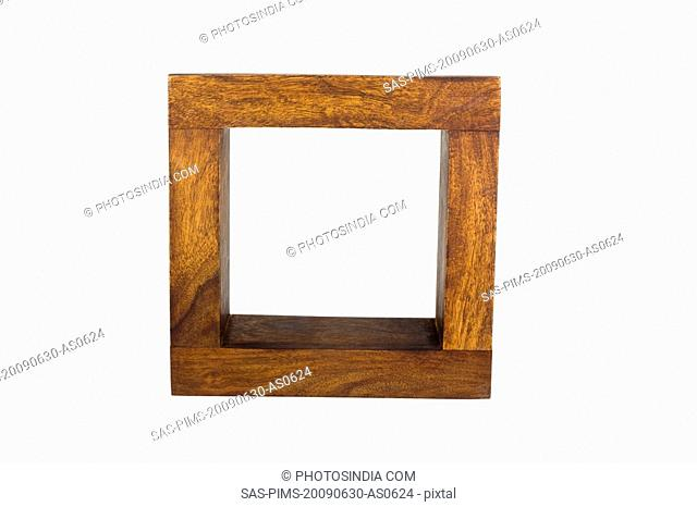 Close-up of an empty wooden frame
