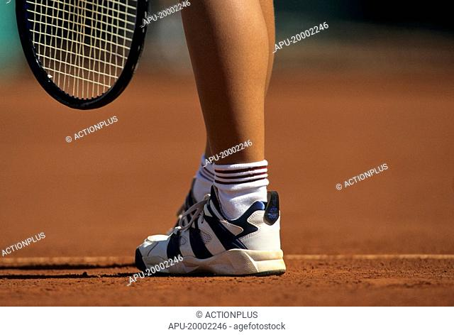 Tennis player on a clay court