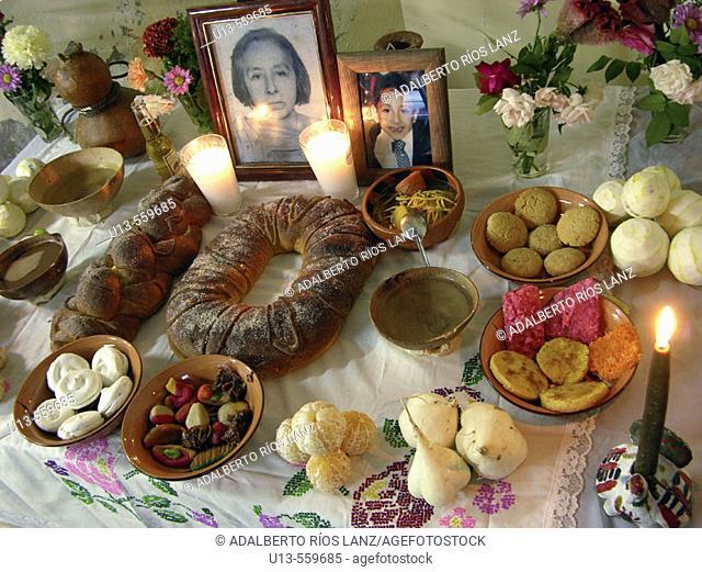 Offering for Dia de los Muertos. Mexico