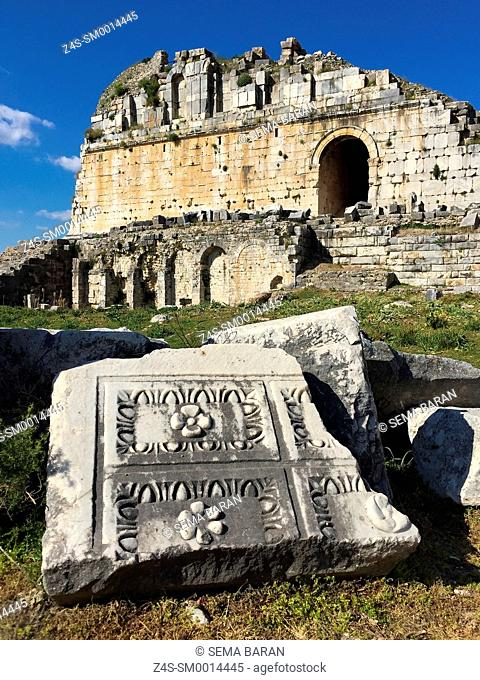 Ancient ruins in Miletus, Milet, Aydin Province, Turkey, Europe