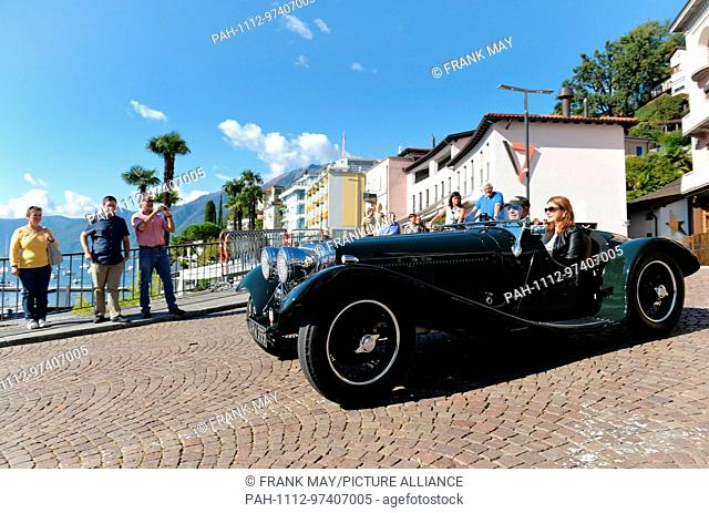 Oldtimer in the city of Ascona in the Switzerland area Tessin, 24.September 2017. Photo: Frank May | usage worldwide. - Ascona/Tessin/Switzerland