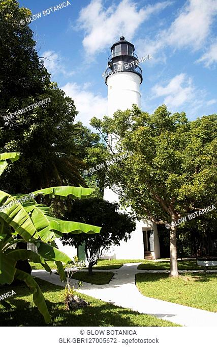 Low angle view of a lighthouse, Key West Lighthouse, Key West, Florida, USA