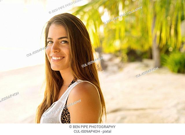 Portrait of young woman on Anda beach, Bohol Province, Philippines