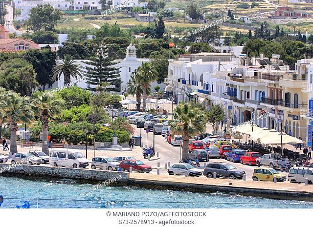 Paros promenade, Cyclades Islands, Greece