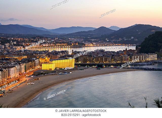Kursaal. La Zurriola beach. Donostia. San Sebastian. Gipuzkoa. Basque Country. Spain
