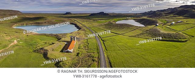 Green Lake and Geothermal Area, Krysuvik Iceland