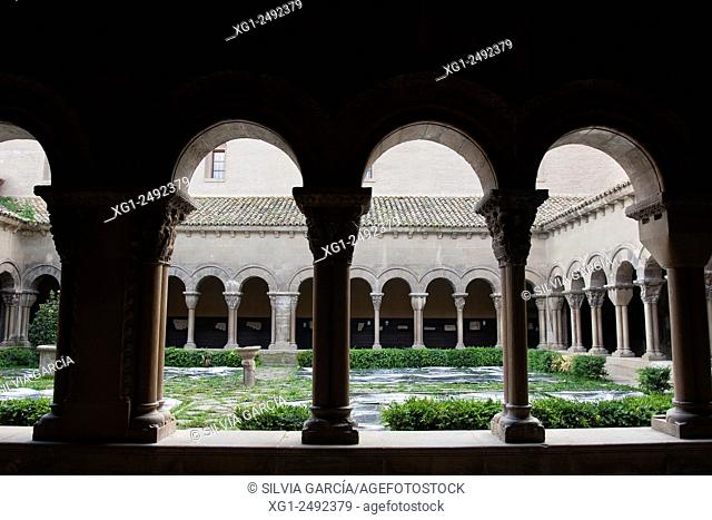 Romanesque cloister of the Cathedral of Tudela, Navarra, Spain