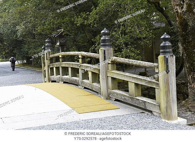 A bridge in Ise Jingu shrine, Japan, Asia