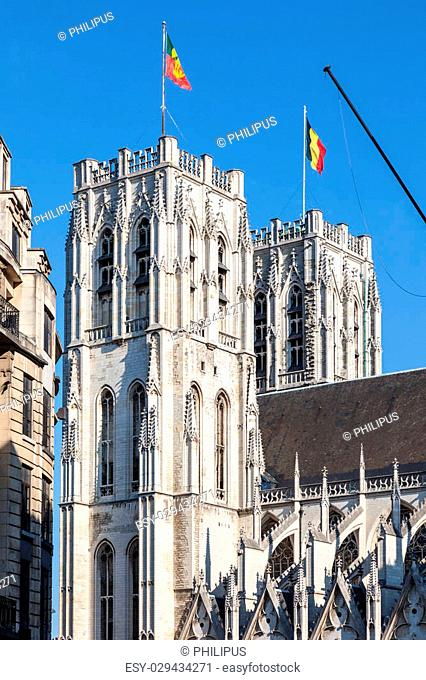Roman catholic cathedral of St. Michael and St. Gudula in Brussels, Belgium