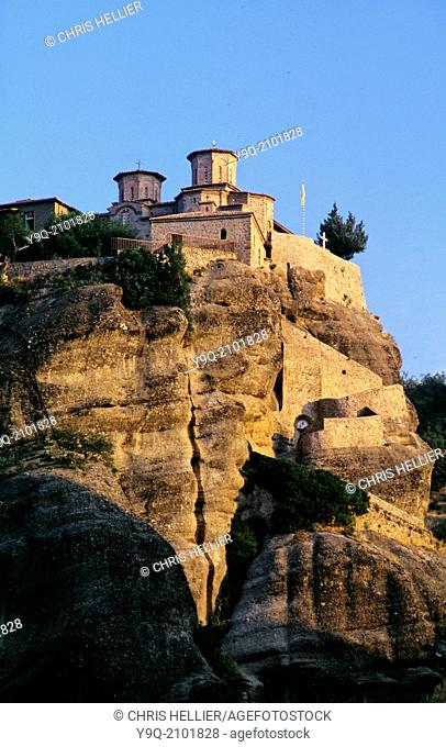 Cliff Top Monastery of Varlamm Meteora Thessaly France