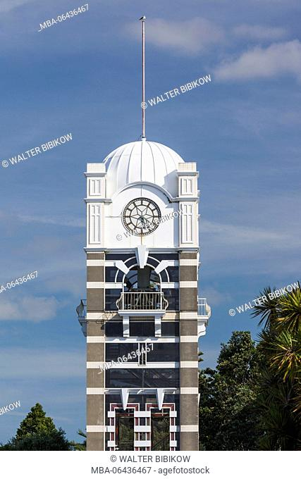 New Zealand, North Island, New Plymouth, clock tower