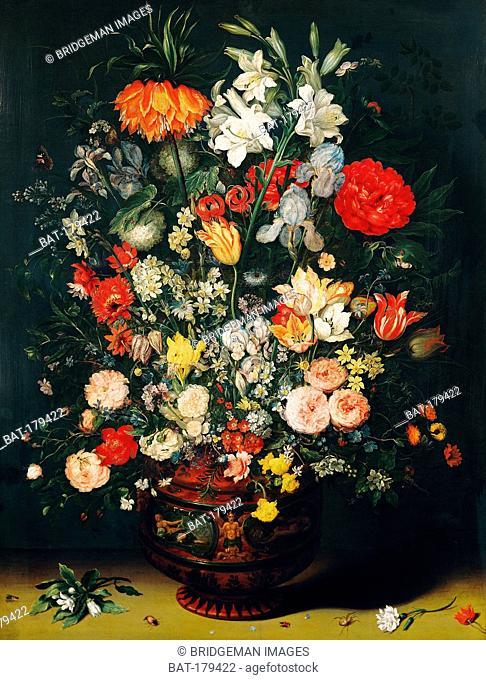 Vase of Flowers (oil on canvas), Brueghel, Jan the Elder (1568-1625) / Koninklijk Museum voor Schone Kunsten, Antwerp, Belgium / Bridgeman Images