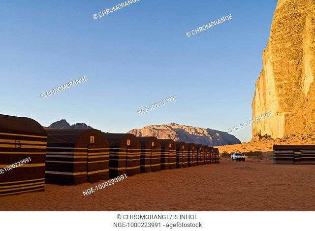 Camp, Desert, Wadi Rum, Jordan, Southwest Asia