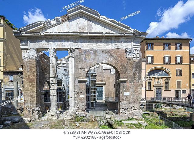 Theatre of Marcellus and Temple of Apollo Sosiano, Rome, Lazio, Italy, Europe