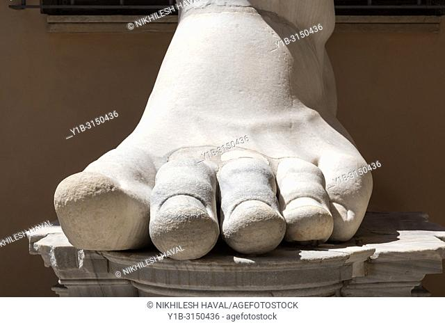 Foot from Colossus of Constantine, Capitoline Museums, Rome, Italy