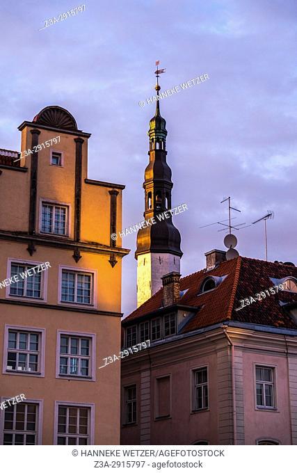 Sunset in Tallinn, Estonia