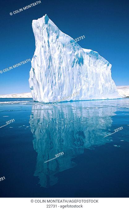 Iceberg spires. Petermann Islands. Antarctic Peninsula