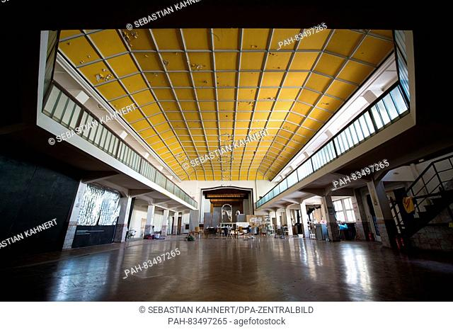The ballroom in the building complex of the former Grafischer Grossbetrieb Voellkerfreundschaft printing company in Dresden,Germany, 03 September 2016