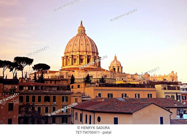St. Peter's Basilica in early morning