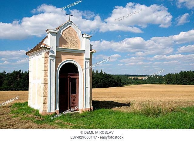 CZ, South Moravia,Zblovice, chapell near village Korolupy