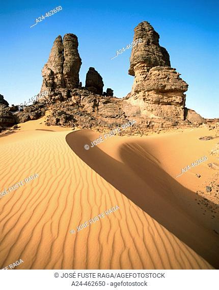 Wadi Teshuinat, Jebel Acacus. Southern Lybia