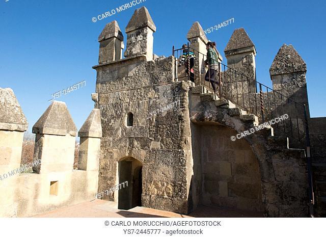 The tower of the Alcazar de los Reyes Cristianos, Cordoba, Andalucia, Spain, Europe