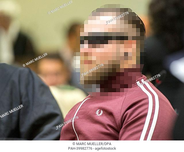 Accused Andre E. sits in the court room in Munich, Germany, 04 June 2013. The trial of the murders and terror attacks by far-right German terror group National...