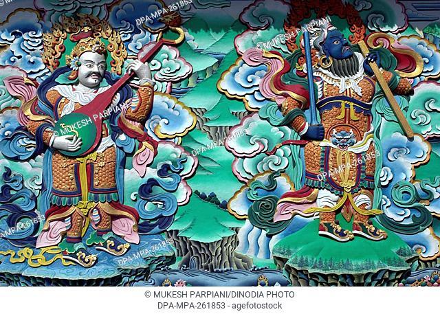 wall of monastery, sarnath, varanasi, uttar pradesh, India, Asia