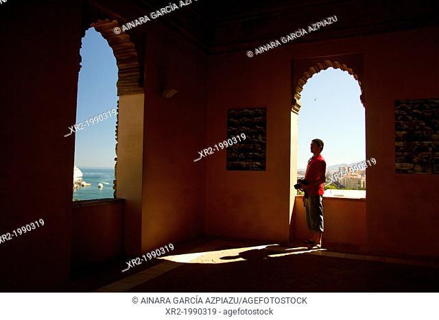 Panoramic views from Alcazaba to Málaga city, Andalucía, Spain