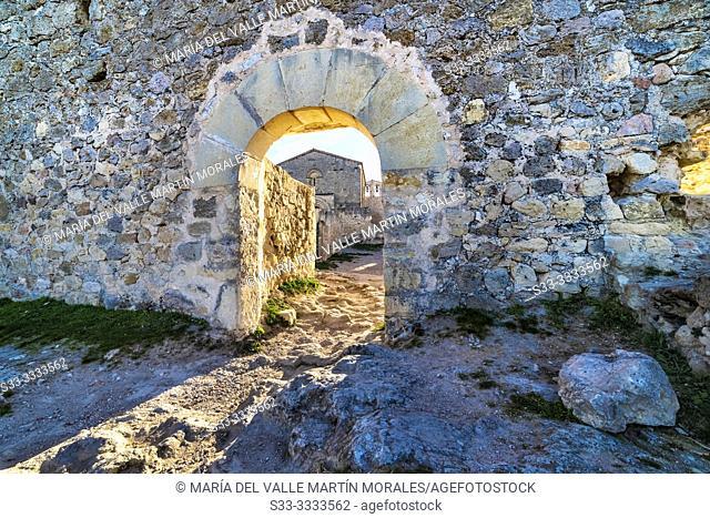Ruins of St. Frutos medieval hermitage. Segovia. Spain. Europe