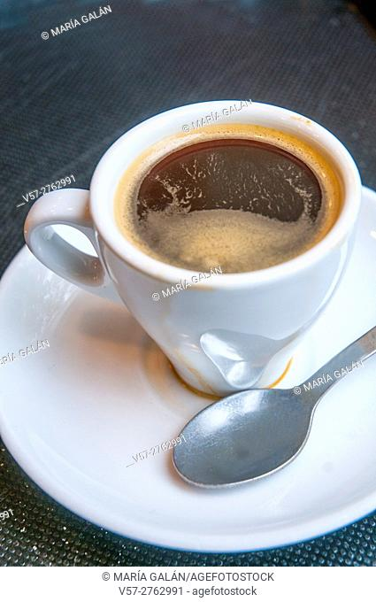 Cup of coffee. Close view