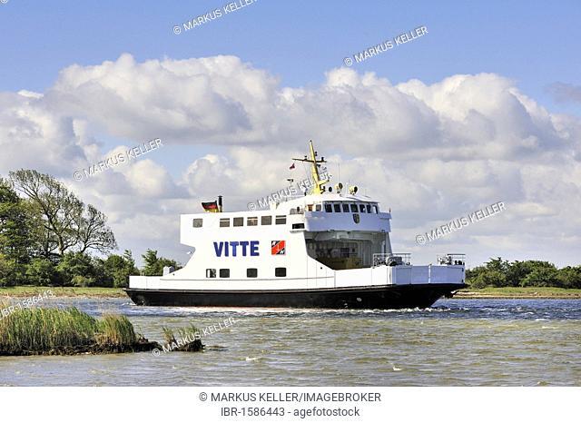 The ferry MF Vitte connects Ruegen Island with Hiddensee Island, district of Ruegen, Mecklenburg-Western Pomerania, Germany, Europa