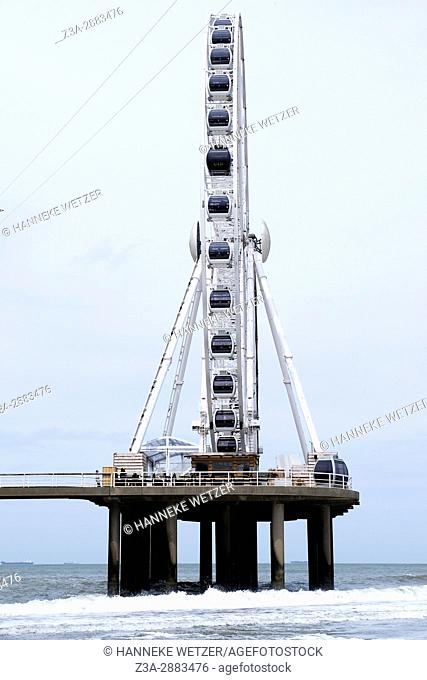 Ferris wheel at the pier of Scheveningen, The Hague, The Netherlands, Europe