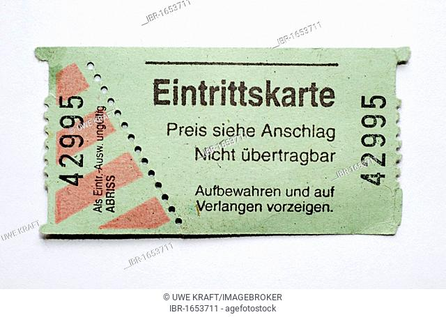 Classical, unused entry ticket