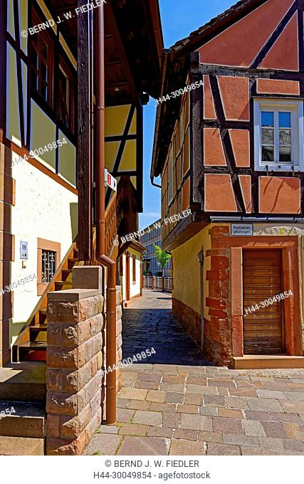 The Schipkapass, narrow walk, sliding cart passport, Annweiler in the Trifels Germany