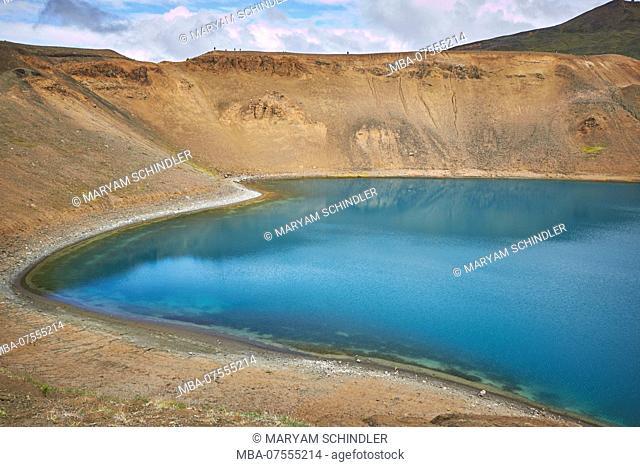 Iceland, Myvatn, Askja volcanic lake, ringroad