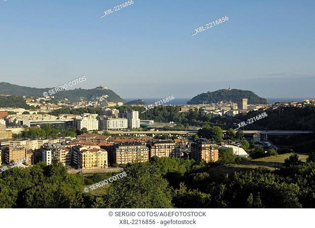 View of San Sebastian, from Ametzagaina, Basque Country, Spain