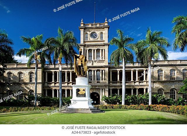Oct. 2007. USA , Hawaii State. Oahu Island. Honolulu City. Kamehameha Statue
