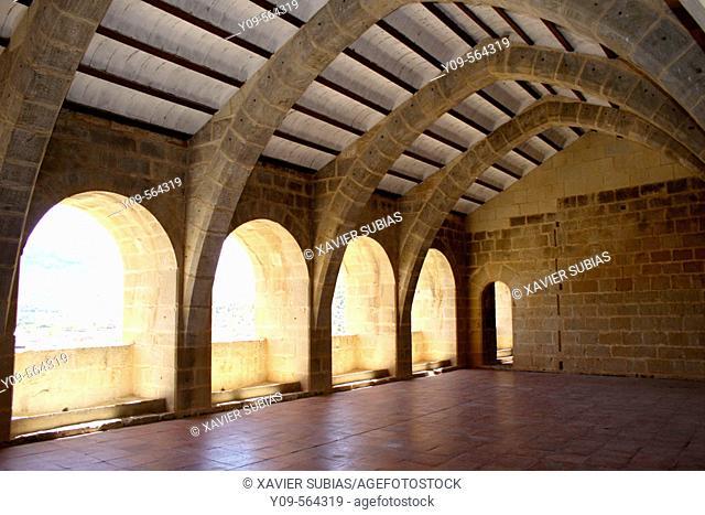 Interior of castle, Valderrobres. Matarraña, Teruel province, Aragón, Spain