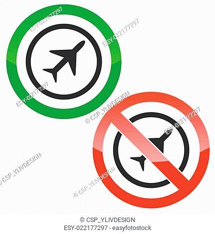 Plane permission signs