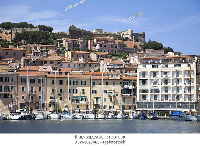 View with the Forte Stella, Portoferraio, Elba island, Tuscany, Italy, Europe