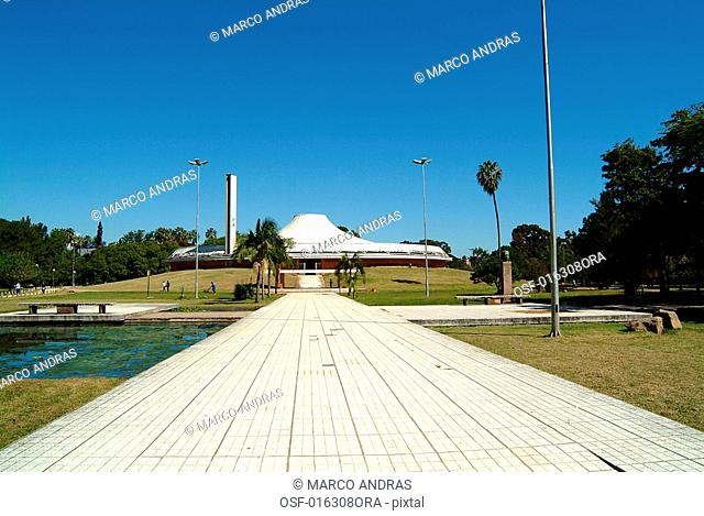 the entrance of a park in porto alegre