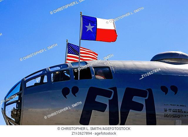 "WWII Boeing B29 Superfortress Bomber Plane """"FiFi"""" at Sarasota SRQ airport FL"