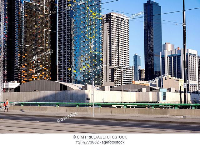 city corporate buildings from La Trobe Street, Melbourne