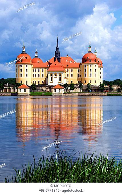 Schloss Moritzburg, Barockschloss, Moritzburg, Sachsen, - Schloss Moritzburg, Sachsen, Germany, 30/05/2014