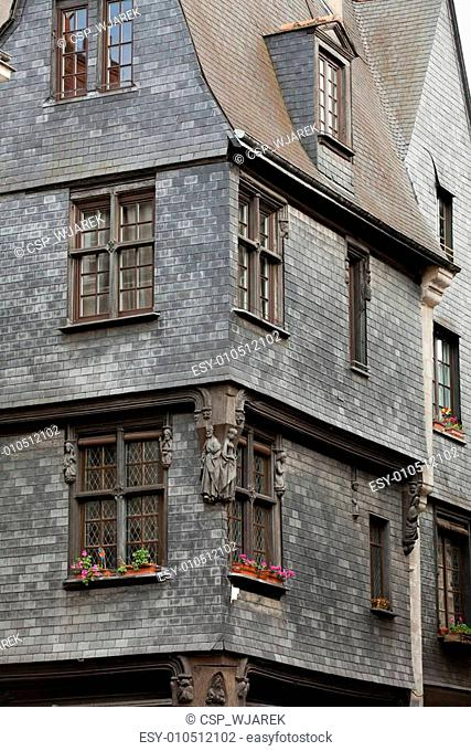 Half-timbered house in Tours, Loire Valley, France