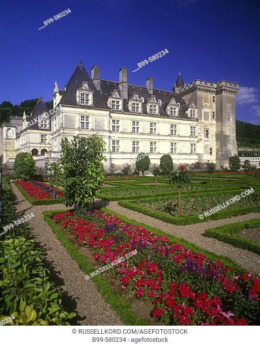 Garden, Chateau Villandry, Indre-et-loire, France