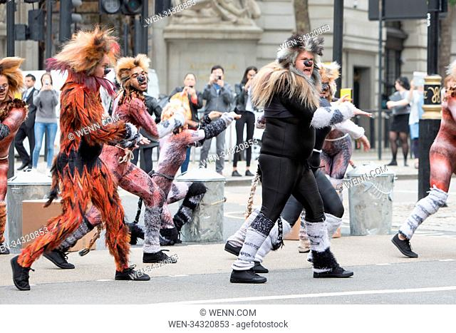 James Corden Films The Late Show withAndrew Lloyd webber on the streets of London. Featuring: James Corden Where: London
