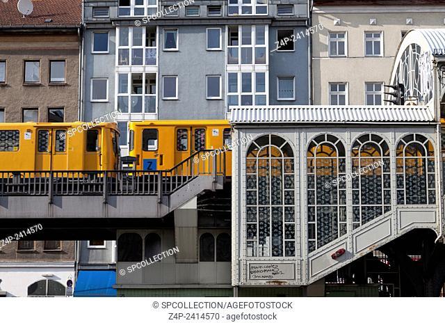 metro station goerlitzer bahnhof in berlin